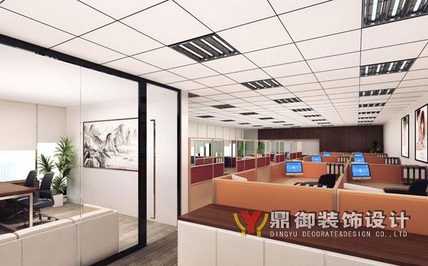 吸引来访客户的心……空谈无益,且看这套平安公司办公室装修效果图