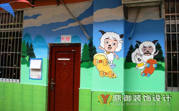 喜洋洋幼儿园设计实景(室外墙绘)