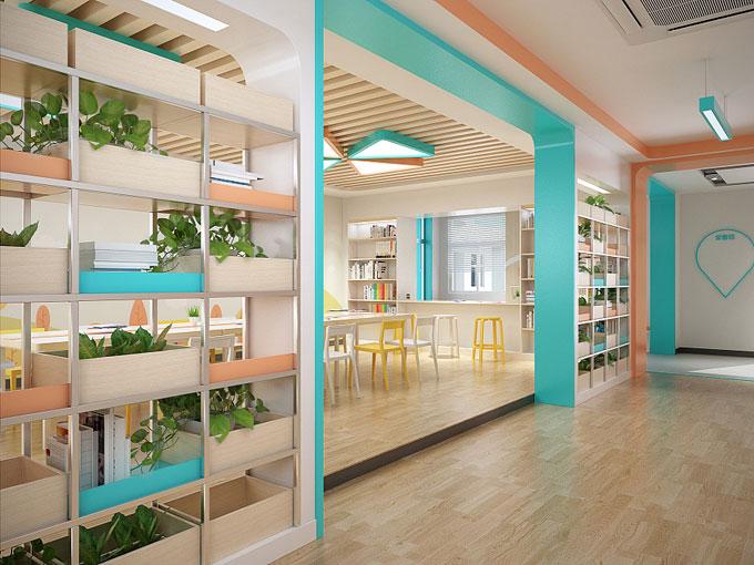 小学图书馆装修设计效果图