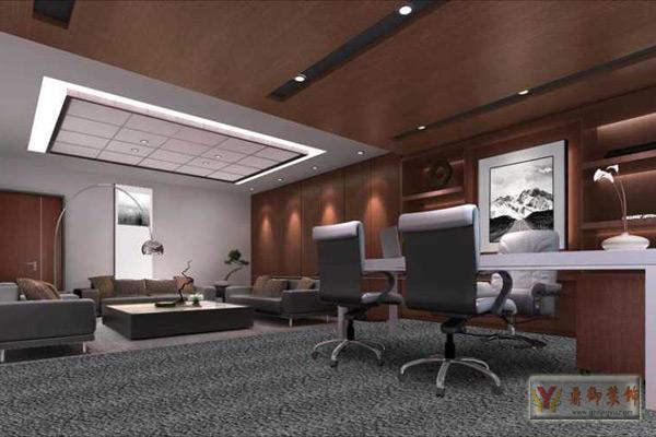 中式风格办公室装修设计 鼎御装饰,广州装修公司