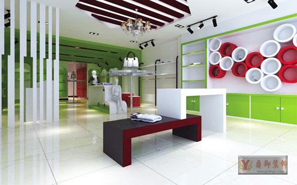 色彩灵活的服装店面装修设计-鼎御装饰