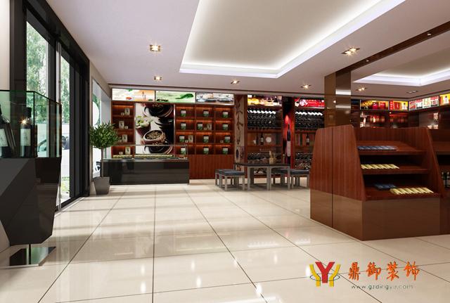 中式风格 烟酒店装修设计 鼎御装饰,广州装修公司
