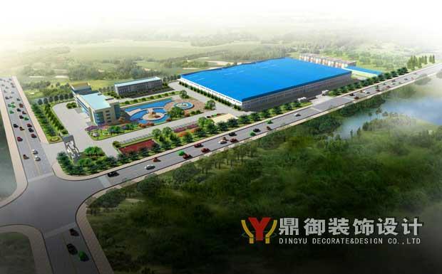 局图开始,再到大门设计,再到厂房与园林景观效果图……整体能看清