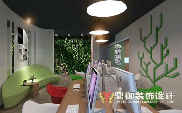 广告公司办公室室内设计 鼎御装饰,广州装修公司 -办公室装修