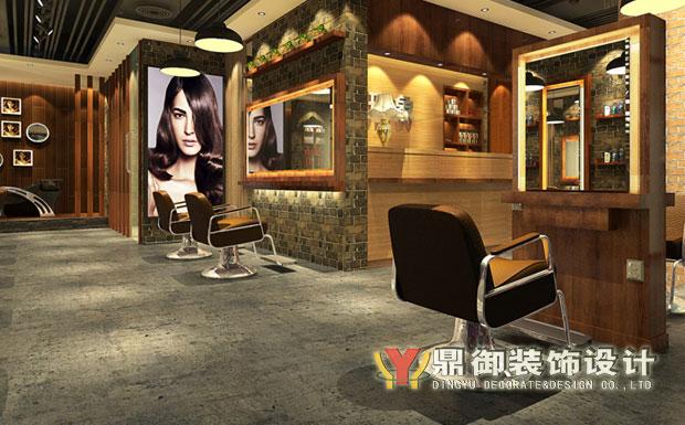 中式风格美发店装修图片