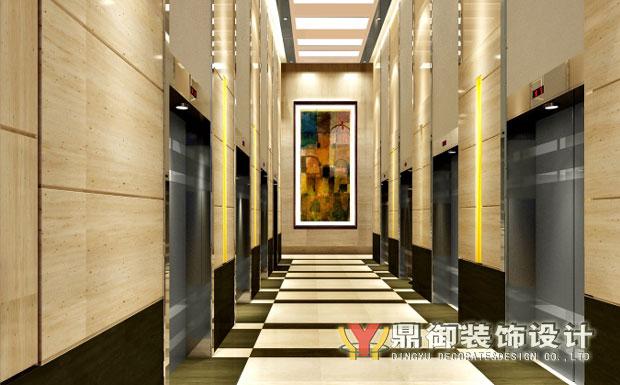 办公楼大厅大门效果图-新希望国际大厦写字楼装饰
