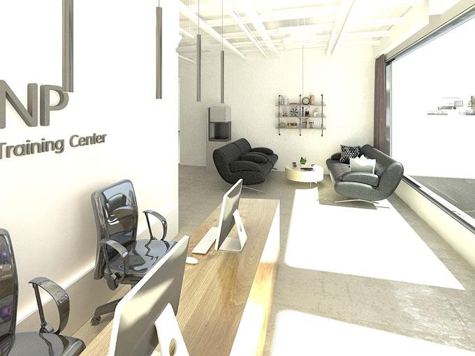 NP舞蹈培训公司办公室装修