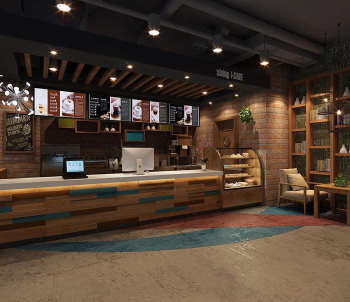 吧台区-500平米网咖装修图LOFT风格